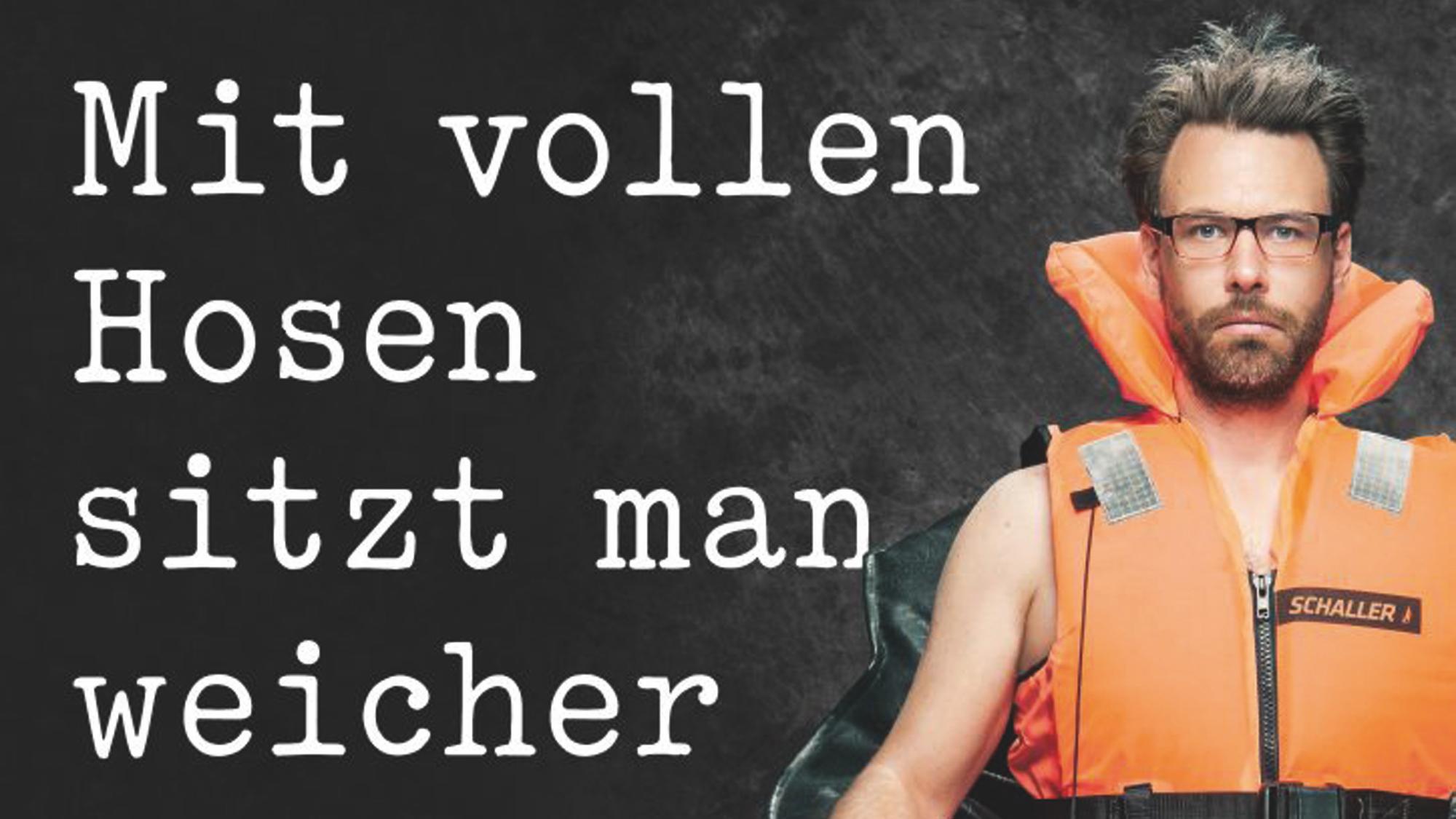 Der Kabarettist Philipp Schaller spielt in der Halberstädter Kulturwirtschaft papermoon